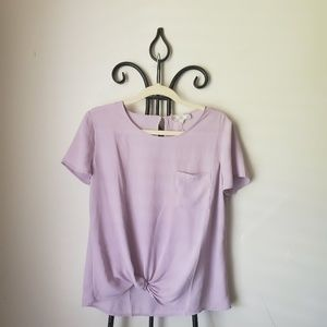 Pink rose lilac blouse
